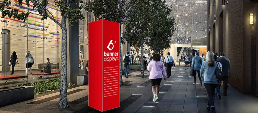 Promuovi la tua attivit con i totem pubblicitari da for Cosa e esterno
